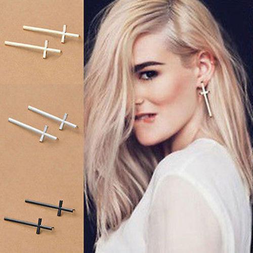 Fashion Jewelry Women Vintage Ear Stud Girl Lady Stylish Cross Earrings New