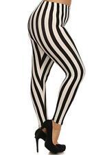 Plus Size Beetlejuice Black & White Stripe Leggings Pants Goth Punk Circus Freak