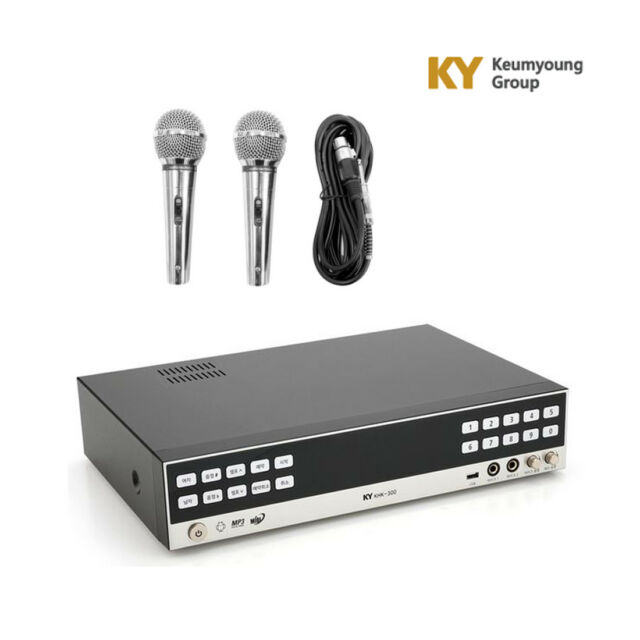 Kumyoung HDD Khk-300 Home Party Korean Karaoke Singing Machine System 2 Mic
