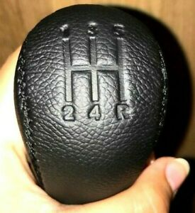 Genuine-Leather-Gear-Shift-Knob-for-5-speed-manual-Nissan-NISMO-Screw-On-Black