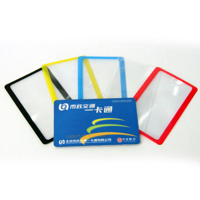 3Pcs Credit Card Size Magnifier Magnifying Fresnel Lens Pocket Wallet ReadiFBDC
