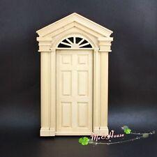 1/12 Dollhouse Miniature DIY Material Wooden Luxury Exterior Door
