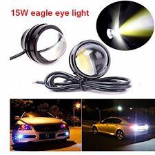 2X 15W Eagle Eye Lamp Daylight LED DRL Fog Daytime Running Car Light Tail Light
