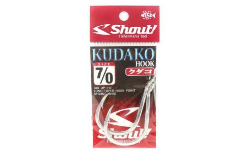 Shout 04-KH Kudako Power Jigging Single Hook Silver Size 7//0 7703