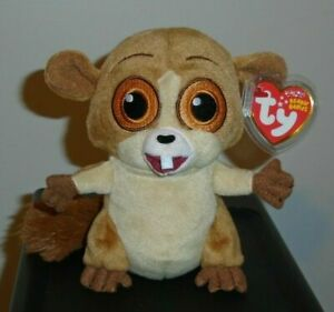 ST* Ty Beanie Baby ~ MORT the Madagascar Movie Lemur (5 Inch