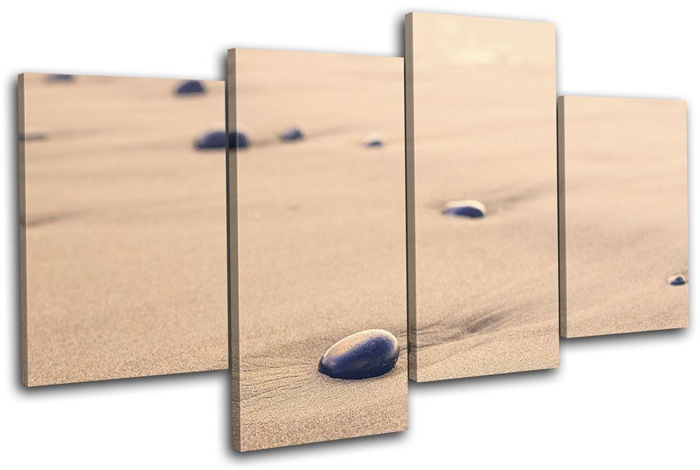 Pebbles Beach Sunset Landscapes MULTI Leinwand Wand Kunst Bild drucken