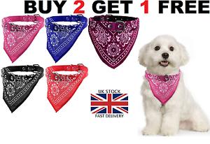 DOG-NECK-SCARF-BANDANA-WITH-COLLAR-ADJUSTABLE-CAT-PET-PUPPY-NECKERCHIEF-UK