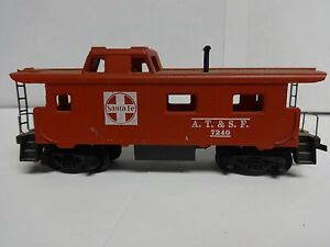 Vintage-Tyco-HO-Scale-Santa-Fe-A-T-amp-S-F-7240-Caboose-Model-Railroad-Train-Car-D