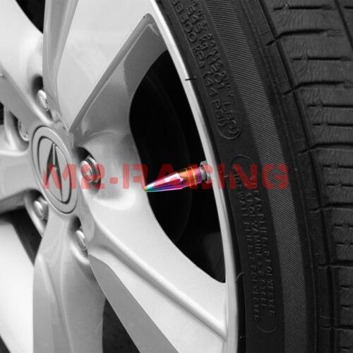 4PCs Copper Long Spike Valve Stem Caps Metal Thread Set For Wheel Tires TVC29