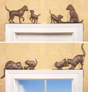 Image Is Loading Set Of 2 Playful Metal Window Door Corner