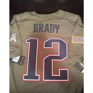 pretty nice c79f3 5e3a7 Details about NEW ENGLAND PATRIOTS BRADY SALUTE TO SERVICE JERSEY M