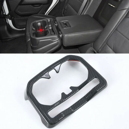 Carbon Fiber Black Rear Seat Water Cup Holder Cover for Jeep Wrangler JL 18-19