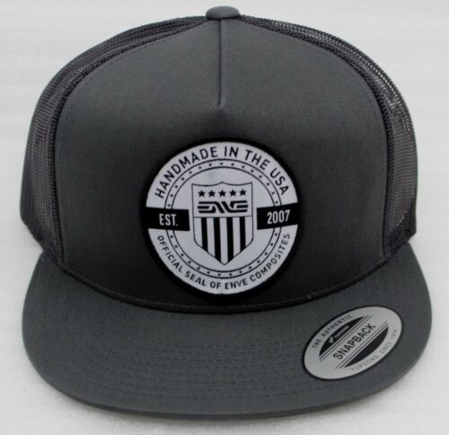 Yupoong Snapback ENVE Kappe Baseballcap Cap Trucker Hat Charcoal grau Herren NEU