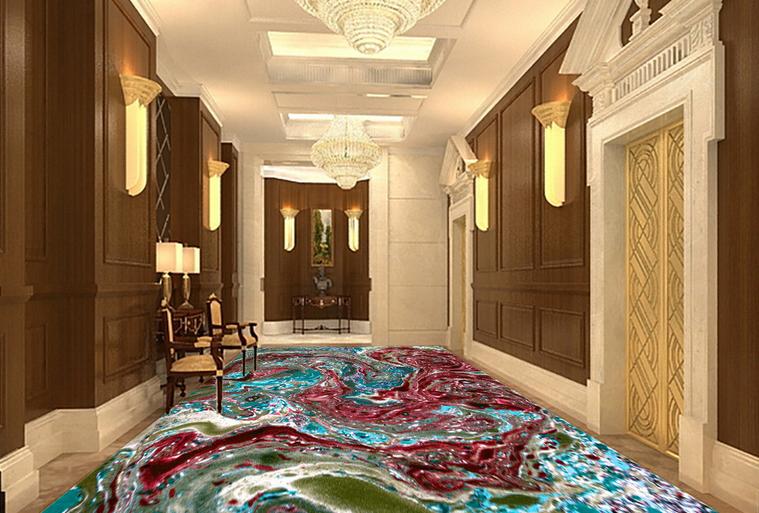 3D rot Pattern 42  Floor WallPaper Murals Wall Print 5D AJ WALLPAPER UK Lemon