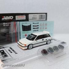 INNO64 1:64 HONDA CIVIC Si E-AT OSAKA JDM White with extra Sticker Diecast Car