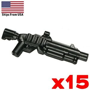 LEGO-Guns-Shotgun-Lot-of-15-Heavy-Black-Army-SWAT-Modern-Military-Weapon-Pack