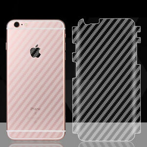 huge discount e9562 e9e9e Details about Soft Carbon Fiber Sticker Full Cover Back Film Protector for  iPhone 6s 7 Plus SE
