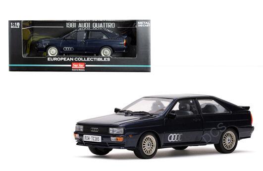 SUNSTAR 1981 AUDI QUATTRO DARK NAVY blueE 1 18 DIECAST MODEL CAR