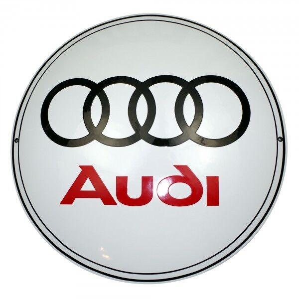 Enamel Plaque AUDI 50 Cm -10 YS Collectable Sign Logo