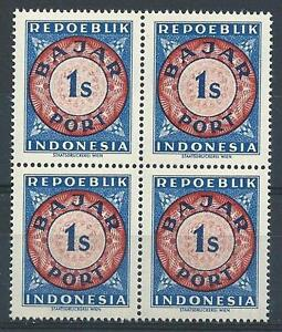 Indonesia 1948 Sc# J1 Bajar port Postage due block 4 MNH