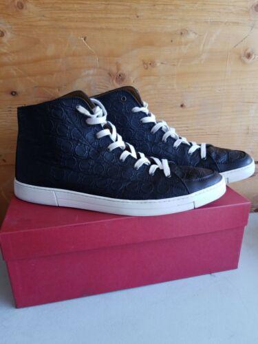 Salvatore Ferragamo Leather High Top black Sneaker