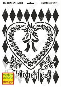 Schablone-Stencil-A3-067-5208-Oktoberfest-Neu-Heike-Schaefer-Design