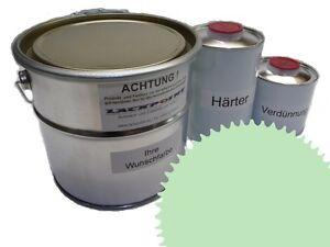 3 Liter Set 2K Floor Coating Ral 6019 White Green Shine Floor Color Workshop