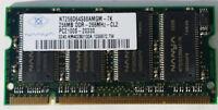 Nanya 256 MB PC2100 DDR-266 266 MHz Laptop Memory RAM NT256D64S88AMGM-7K