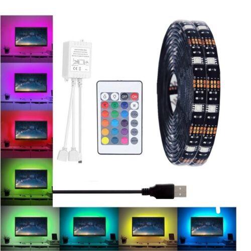 2x 4x 0.5M LED RGB USB Strip TV Backlight Strip Kit Remote Control