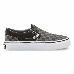 5922a837534085 VANS KIDS Classic Slip-On (Checkerboard) Black Pewter Size 11-4 Fast ...