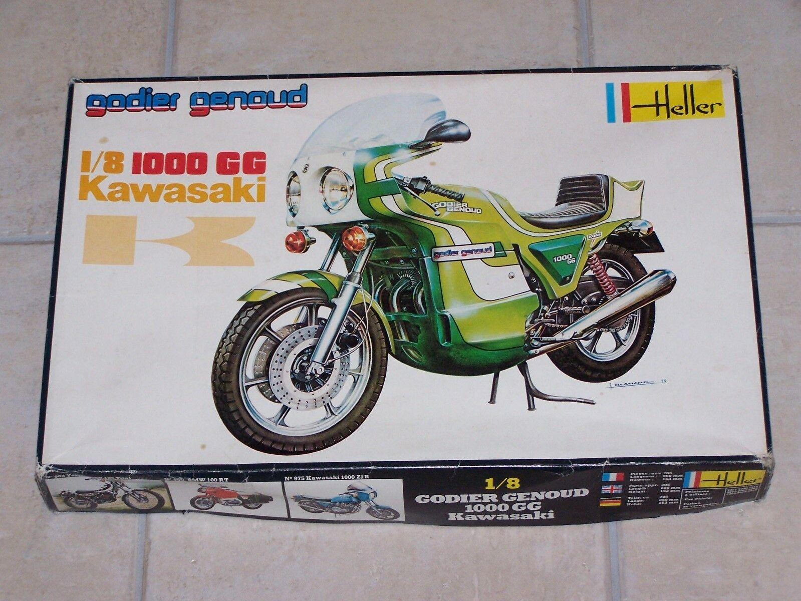 Vintage Maquette HELLER 1 8ème KAWASAKI 1000 GG GODIER GENOUD