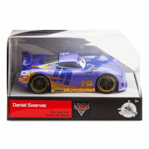 Disney Store Cars 3 Die Cast Collector Display Case Box Daniel Swervez 1:43 NEW