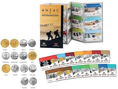 2016 Anzac To Afghanistan Complete Set Album /& 14 Coins INCLUDES FIRST 25c Coins