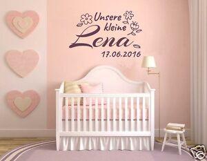 Details zu Wandtattoo Name Kinderzimmer, Mädchen, Baby Jungen Sticker  Wunschname Datum pkm1