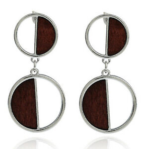 Image Is Loading Marni H Amp M Silver Color Round Earrings