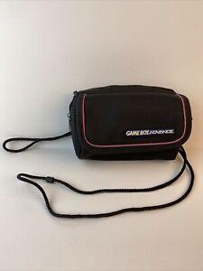 Nintendo Game Boy Advance Carry Case Shoulder & Wrist Strap Black Travel Bag