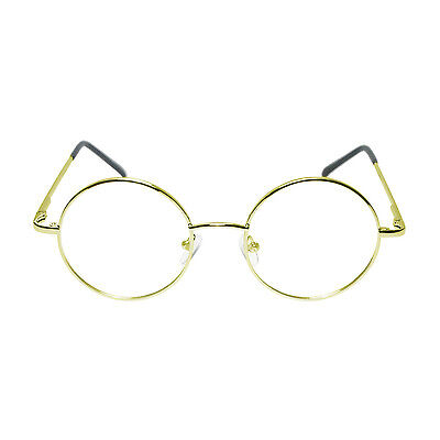 WORLD BOOK DAY Round Gold Frame Granny Grandad Fancy Dress Glasses