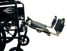 Karman Universal Elevating Legrest for Wheelchair Black INV Style