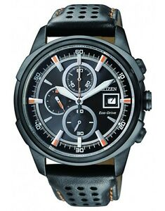Citizen CA0375-00E Mens Eco-Drive Solar Watch WR100m Leather Band RRP $499.00