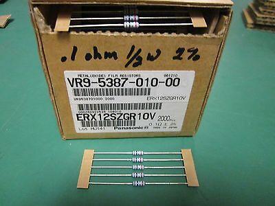 5 Pack Metal Oxide Film 10 OHM 1//2 Watt 5/% Resistors NOS NFR25H 10R