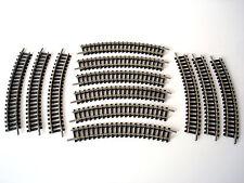 LOT 12 RAILS COURBES MAILLECHORT - MINITRIX - 14912 / 4912 - ECHELLE N