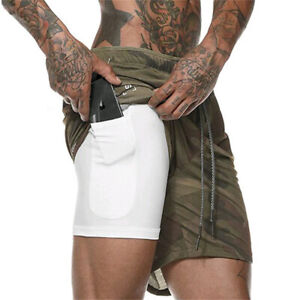New-Men-039-s-Sports-Training-Bodybuilding-Summer-Shorts-Workout-Fitness-GYM-Pants