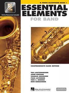 AgréAble Éléments Essentiels Pour Bande Livre 1 Avec Eei Bb Tenor Saxophone Band Bo 000862573-afficher Le Titre D'origine Forfaits à La Mode Et Attrayants