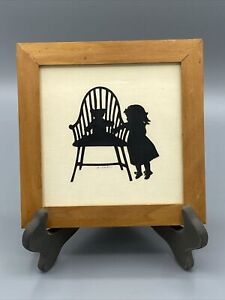 VINTAGE SCHERENSCHNITTE SILHOUETTE CUT OUT ART/SIGNED