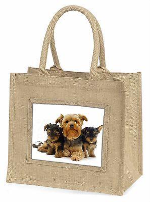 Yorkshire Terrier Hunde Große Natürliche Jute-einkaufstasche Weihnachten,