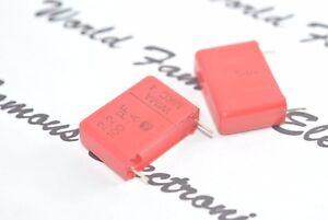 2pcs-WIMA-MKC4-2-2uF-2-2-F-100V-10-Pitch-22-5mm-Polycarbonat-Kondensator