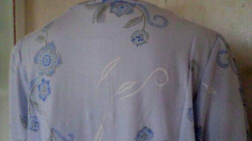 fauser Damen Nachthemd langer Arm Knopfleiste Baumwolle Hellblau Gr.60//62 NEU //a