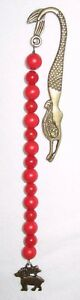 Beaded-Bookmark-Zodiac-Sign-Aries-Red-Coral-Bronze-6-5-16-034
