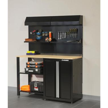 Husky 53 W x 69 H x 19 D Inches Steel 6-Piece Garage Cabinet Set