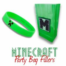 Kids Handmade Birthday Party goody/favor bag & Minecraft Official Wristband